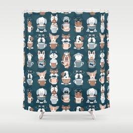 Doggie Coffee and Tea Time II Shower Curtain