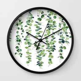 Eucalyptus Garland  Wall Clock