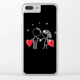 Love Valentine's Day. Wedding. Clear iPhone Case
