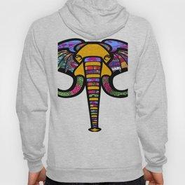 Retrocultural elephant head Hoody