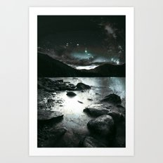 Magical Mountain Lake : Dark & Mysterious Art Print
