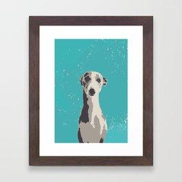 Greyhound sad art print Framed Art Print