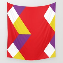 Mountains, or waves, or letters M, or polygons... all in a red carpet. Wall Tapestry