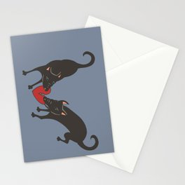 Black Dog Heartbreak Stationery Cards