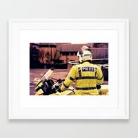 police Framed Art Prints featuring Police by Julian Bailey