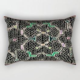 Song for Good Work - Traditional Shipibo Art - Indigenous Ayahuasca Patterns Rectangular Pillow