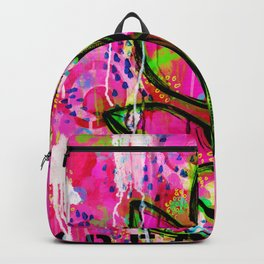Leaves painting - Abstract Backpack