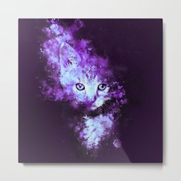 abstract young cat wsdp Metal Print