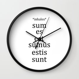 Sum Konjugation - Latin Language Student Teacher Wall Clock