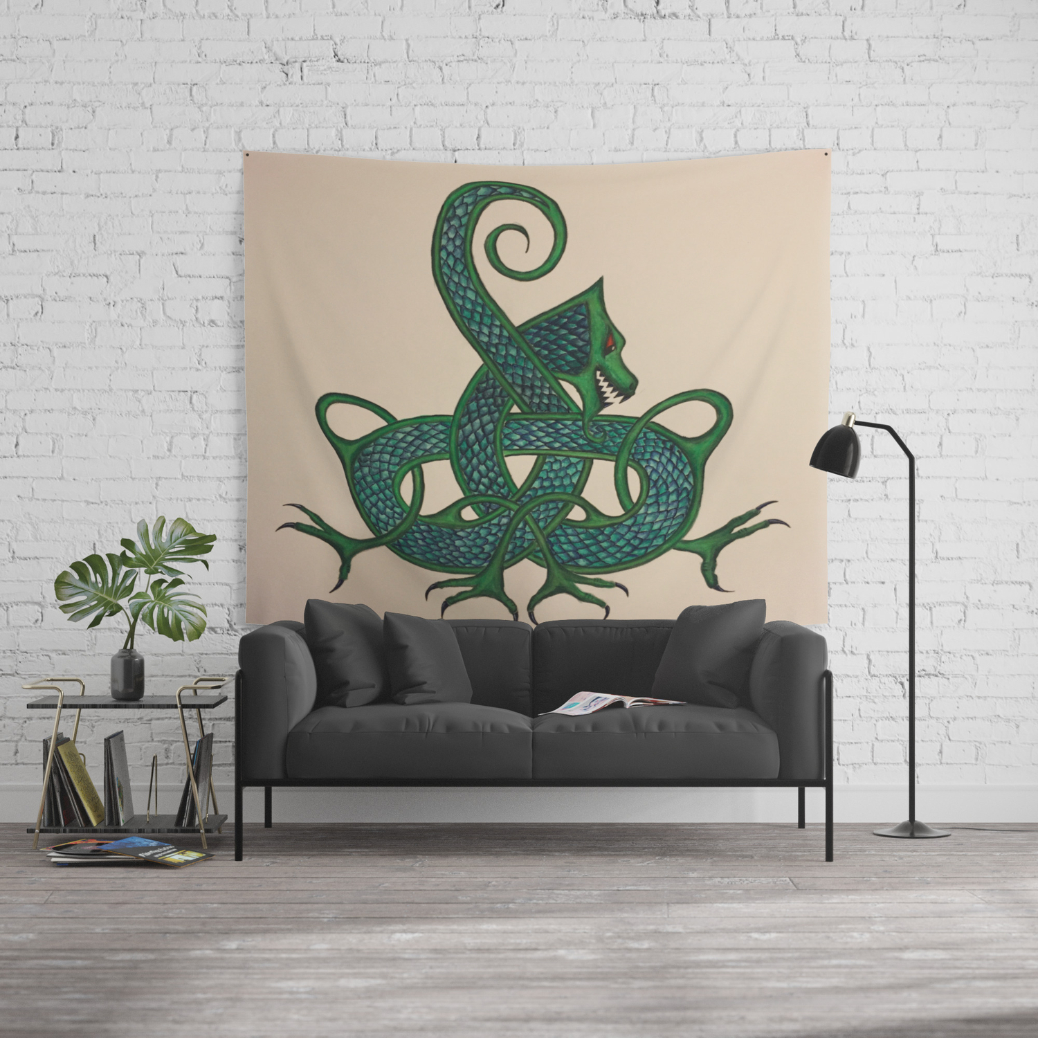 Astonishing Celtic Dragon Wall Tapestry Bralicious Painted Fabric Chair Ideas Braliciousco