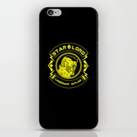 star lord iPhone & iPod Skins featuring Star Lord legendary outlaw by CarloJ1956