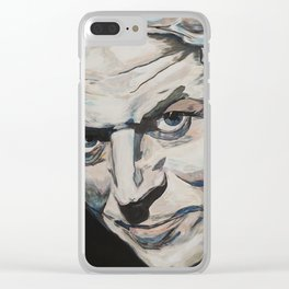 Might As Well Face It - Robert Palmer Portrait Clear iPhone Case