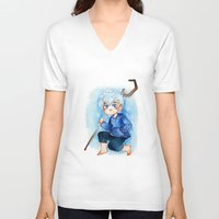 jack frost V-neck T-shirts featuring Jack Frost by noCek