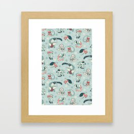 Winter herps Framed Art Print