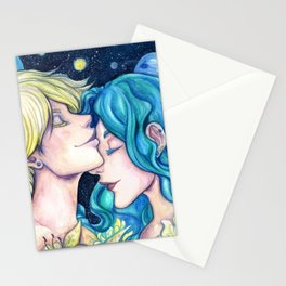 Uranus and Neptune Stationery Cards