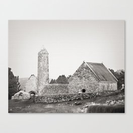 Clonmacnoise round tower Canvas Print