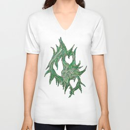 The Vines of Time and Strife Unisex V-Neck