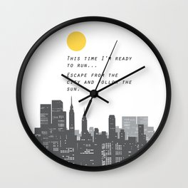 Escape from the City... Wall Clock