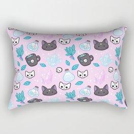 Herb Witch // Pink Rectangular Pillow