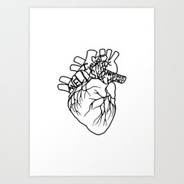 Elastic Heart Art Print