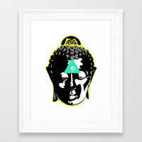 buddah Framed Art Prints featuring Buddah by New Ill