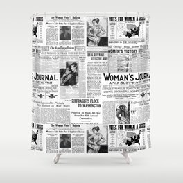 MAKING AMERICA GREAT - WOMEN'S SUFFRAGE Shower Curtain