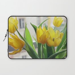 View through Yellow Tulips Laptop Sleeve