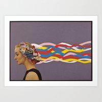 candy Art Prints featuring wave by Canson City