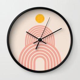 Abstraction_SUN_LINE_VISUAL_ART_Minimalism_002B Wall Clock