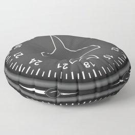 Directional Gyro Flight Instruments Floor Pillow