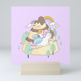 Bubu the Guinea pig, Unicorn Mini Art Print