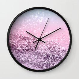 Mermaid Girls Glitter #2 #shiny #pastel #decor #art #society6 Wall Clock