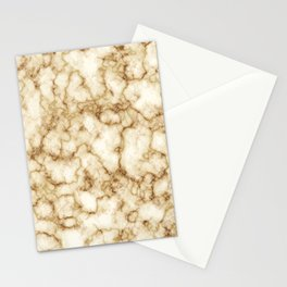 Golden Marble Texture Pattern Cutest Stationery Cards