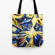 Tardis By Van Gogh - Doctor Who Tote Bag