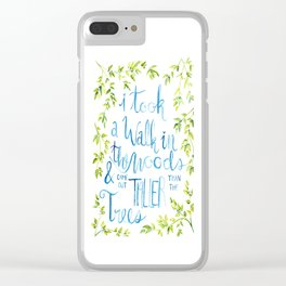 Taller than the Trees Clear iPhone Case