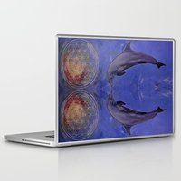 dolphins Laptop & iPad Skins featuring dolphins by ARTito