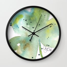 St. Patty's Day Clover Wall Clock