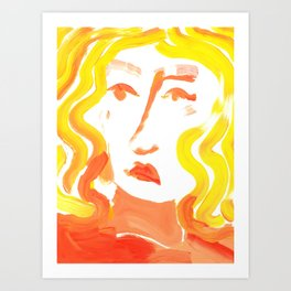Turtleneck Woman Art Print