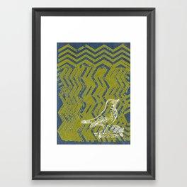 Chevron Bird Framed Art Print