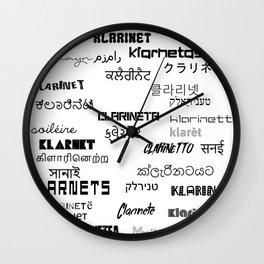 Clarinanguages White Wall Clock