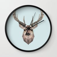 stag Wall Clocks featuring Stag by LydiaSchüttengruber