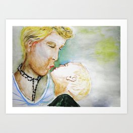 Mutter mit Kind, Mother and Child Art Print