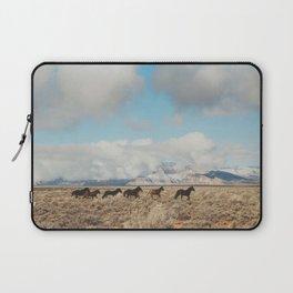 Running Reservation Horses Laptop Sleeve