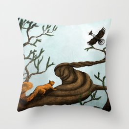 Ratatosk and the Eagle Throw Pillow