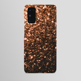 Beautiful Bronze Orange Brown glitters sparkles Android Case