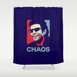 'Chaos' Ian Malcolm (Jurassic Park) Shower Curtain