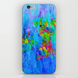 Blue Wash Jazzy Abstract iPhone Skin