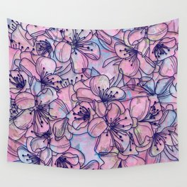 Over and Over Flowers 2 Wall Tapestry