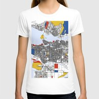 mondrian T-shirts featuring Vanvouver Mondrian by Mondrian Maps