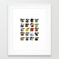 shrek Framed Art Prints featuring Hooray for Hollywood  by nobleplatypus